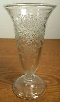 Hazel Atlas Florentine No 2 Poppy Clear Parfait Glass/Vase Cr 1930