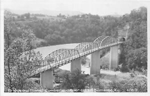 H51/ Burnside Kentucky RPPC Postcard 1951 Cline Bridge Tunnel River