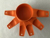 Vintage Tupperware Measuring Cups Orange Set of 6 Complete