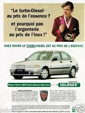 Publicité advertising 1997 Rover Série 400 Turbo Diesel Injection