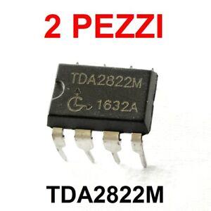 2 pezzi TDA2822M TDA2822 M Amplificatore Audio stereo Doppio Canale DIP-8