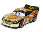 Mattel Disney Pixar Cars Golden Chrome Metallic Lightning McQueen 1:55 New Loose