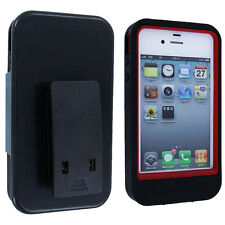 Black / Red Hybrid Case Cover Holster Combo with Clip / Stand for iPhone 4 / 4S