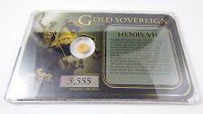 Windsor Mint Gold Sovereign  Henry VII .585 (14k) 0.5 g Gold