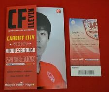 More details for cardiff city vs middlesbrough - 17 november 2012 :  programme & ticket!