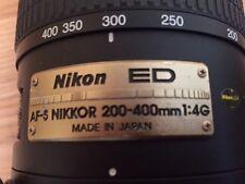 Super Telefoto Zoom Lens EX+++ AF-S VR Zoom-NIKKOR 200-400mm f/4G IF-ED
