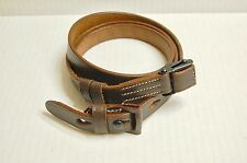 K98 Mauser Sling - Brown Leather with markings