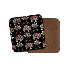 Pretty Elephant Coaster - Lotus Flower Indian Mum Auntie Sister Cool Gift #14789