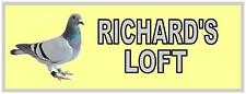 Pigeon Loft sign Racing Pigeon Room Sign Aviary Pigeon Sign