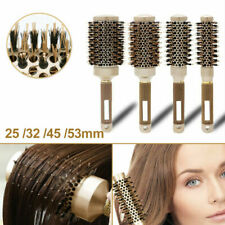 Professional Thermal Ceramic&Ionic Round Barrel Hair Brush with Boar Bristle New