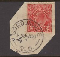 Queensland nice GORDONVALE 1933 postmark on KGV piece