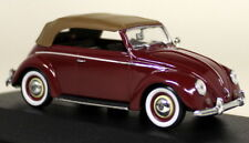 Minichamps 1/43 Scale 430 052040 VW Cabrio Softtop 1951/52 Red Diecast Model Car