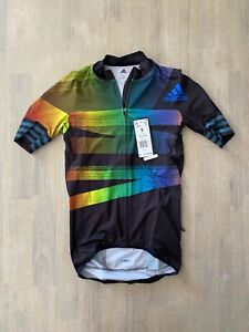 Adidas Adistar Pride Maillot Cycling Form Fitting Jersey FJ6571 Men's Size S