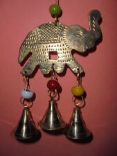 BrasS Hanging Bells Ganesha Elephant Decor Religious Hindu Feng ShuI Handicraft