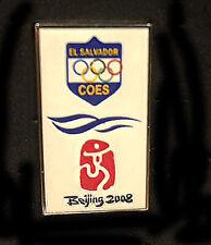 Beijing 2008 28th Summer Olympic Games limited EL SALVADOR  pin