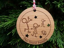Personalised Family Christmas Tree Decorations | Family of Xmas Bauble 1,2,3,4,5