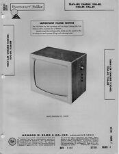 1961 TRAV-LER 1150-80 89TELEVISION SERVICE MANUAL PHOTOFACT SCHEMATIC 1156-89
