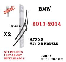 2011-2014 BMW E70 E71 X5 X6 Front Windshield Wiper Blade Set GENUINE 61610038893