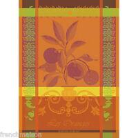 Garnier Thiebaut French Kitchen Tea Towel LES ORANGES Orange Citrus Fruit $23.50