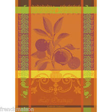 Garnier Thiebaut French Kitchen Tea Towel LES ORANGES Orange Citrus Fruit New