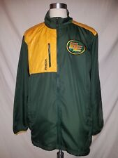 Reebok CFL Football Edminton Eskimos Authentic Sideline Green Yellow Jacket XL