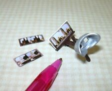 Miniature Chrysnbon Old-Fashioned Plastic Stereoscope w/3 Photos: DOLLHOUSE 1:12