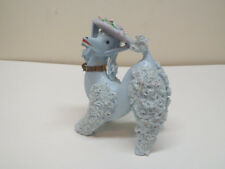 1950s Blue Spaghetti Poodle Shopping Mom & Two Children Damaged