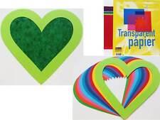 10 Passepartout Herzen 19x20cm + 2 Transparentpapier DIN A5 Papierherzen 225g/m2