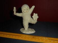 Vintage Dept 56 SNOWBABIES BALANCING SNOWFLAKES Porcelain Christmas Figurine