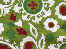 Christmas Curtain Chartreuse Valance. Green and Red. 36 inch wide Window Decor!