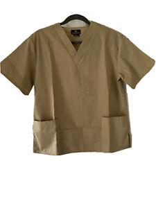 NWOT Natural Uniforms Natural Comfort Women XS Beige Top Blouse RN 109822