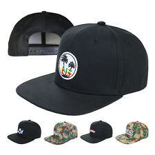 Men's Embroidered Snapback Sports Flat  Adjustable Hat Baseball One Size Cap