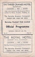 BARNSLEY v NEWCASTLE UNITED ~ WAR LEAGUE NORTH ~ 16 FEBRUARY 1946