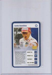 2009 Top Trumps Tournament Sporting Heroes Lewis Hamilton high grade Formula One
