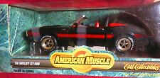 New ListingBlack, 1969 Shelby Gt-500 Convertible, 1/18 Ertl American Muscle, Red Interior