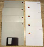 1984 Apple Macintosh 128K M0001 400K UNUSED Original DISKS and LABELS!  Mac 512K