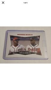 2018 Topps Throwback Thursday Ronald Acuna JR RC Juan Soto Rookie Rivals #173