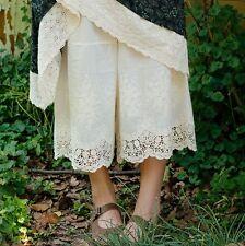 Jupe culottes Panty pantacourt dentelle Mori hippie shabby chic ancien vintage