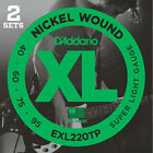D'Addario EXL220TP, Super Light, 40-95, 2 jeux, cordes longues - jeu guitare ba