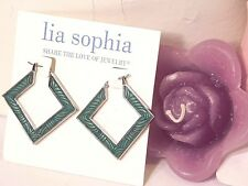 Beautiful Lia Sophia SQUARE DANCE Hoop Earrings, NWT