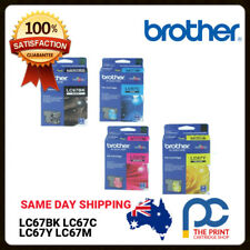 Original Brother LC67 Full Ink Set LC67BK LC67C LC67Y LC67M MFC795CW, MFC990CW