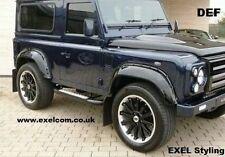 Land Rover Defender 90,110,130 Extended arco de rueda Juego de 4 Negro Mate.