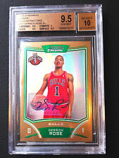 🏀 #/25 Derrick Rose BGS 9.5 GEM 2008-09 Bowman Chrome Gold Refractor Auto RC