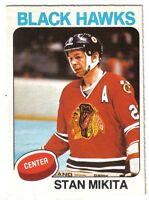 1975-76 O-Pee-Chee  Hockey Card #30 Stan Mikita Chicago Blackhawks ~  EX/MT
