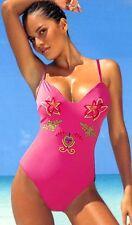 Badeanzug Gr. 38 C Cup Optimizer Damen Badeanzug pink DUPONT