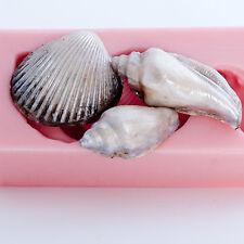 Silicone Seashell Mold Fondant Sea Shell Mold Chocolate Candy Mold (821)
