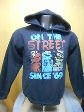 Mens Licensed Sesame Street On The Street Since '69 Hoodie New M