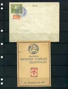 I EXPOSICION FILATELICA NACIONAL,-Cali, Nov 11 1947 by  C.F.C. 'TARJETA- /SOBRE'
