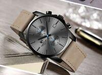 Chronograph  MvMt Style CHEETAH Brand Fashion Smart Casual Quartz Leather Watch