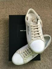 AUTHENTIC, BRAND NEW Saint Laurent Court Classic Embroidered Sneakers EU 42